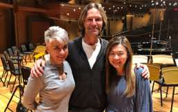 Composer and conductor Eric Whitacre and associate conductor of LA Master Chorale Jenny Wong, Musco Center, Orange, California 2020