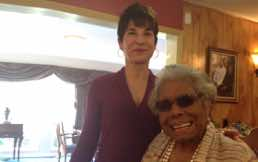 "Dr. Maya Angelou at her home in Winston-Salem after recording narration for Copland ""Lincoln Portrait"" 2014"