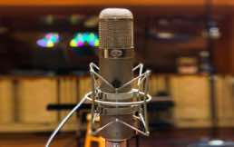 A very nice microphone- recording at Manifold Studios 2019