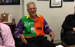 Dan Lewis Board Chairman Spring For Music sporting his Spring For Music bandana shirt 2012