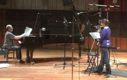Robert Spano and Jessica Rivera recording at Oberlin, OH Spano Holderlin-Lieder 2013