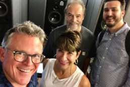 "Conductor John Morris Russell, recording engineer Michael Bishop, Pops Manager Sam Strater mixing Cincinnati Pops ""American Originals: 1918"" Cleveland, 2018"