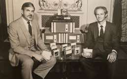 Telarc founders Jack Renner and Robert Woods circa 1983